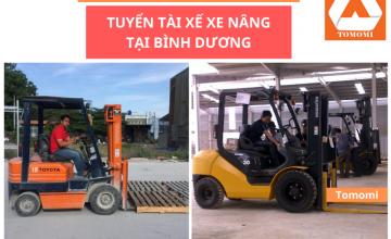 Tuyển tài xế lái xe nâng tại Bình Dương, Biên Hòa & tphcm