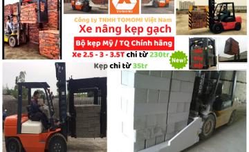 Xe Nâng Kẹp Gạch tốt bền rẻ nhất Hà Nội